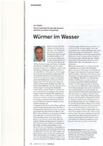 thumbnail of Wurm im Wasser